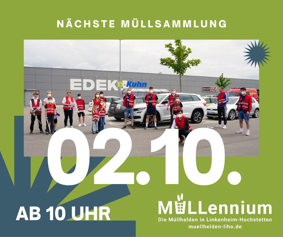 Neue Müllsammelaktion am 02.10 in Linkenheim-Hochstetten