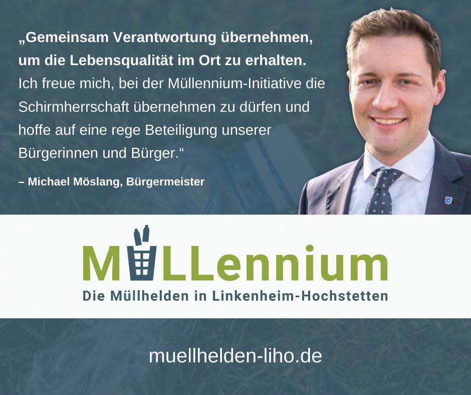 Wir freuen uns sehr, dass wir unseren Bürgermeister Michael Möslang als Schirmherr für unsere Initiative gewinnen konnten.